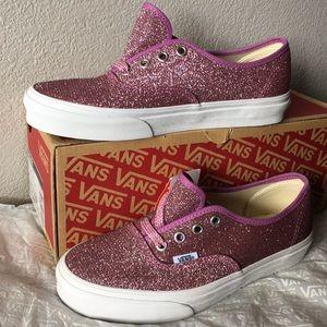 Vans Authentic Lurex Glitter) Pink/True White7